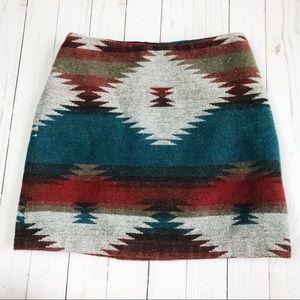 American Eagle Tribal Southwest Knit Wool Skirt